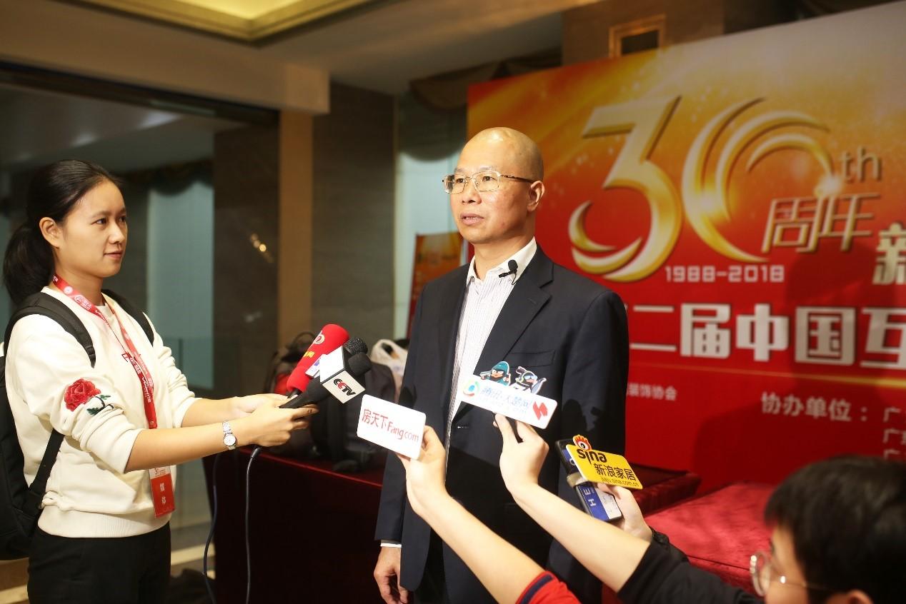 材巴巴百企千亿采购盛会 创始人CEO欧阳宏斌接受多家媒体采访