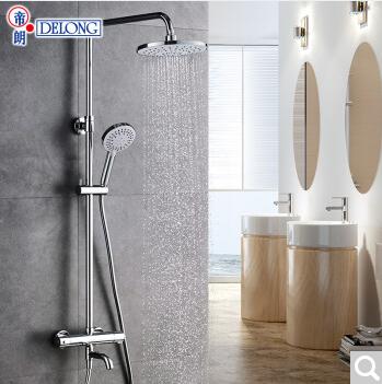卫生间智能恒温淋浴花洒套装 家用挂墙式全铜洗澡器沐氧增压