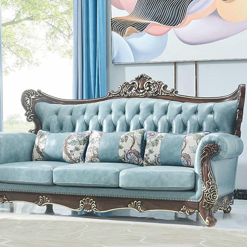 美式新古典棕涂装工艺沙发